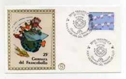 Italia - 1983 - Busta FDC Filagrano - 25^ Giornata Del Francobollo - Con Doppio Annullo Trento - (FDC18205) - Giornata Del Francobollo