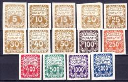 Tchécoslovaquie 1919 Mi 1-74 (Yv TT 1-14), (MNH)** - Timbres-taxe