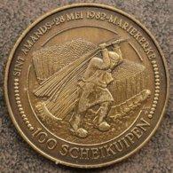 4006 Vz Sint-Amands 28 Mei 1982 Mariekerke 100 Scheikuipen - Kz Voor Outer En Heerd - Jetons De Communes