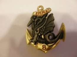 FRANCE MILITARY SIGN R.P.I.M.A NAVY ENAMEL BADGE 12 - Militaria
