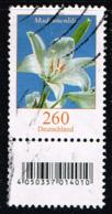 Bund 2016, Michel# 3207 R O Blumen: Madonnenlilie Mit EAN-Code Und Nr. 165 - Roulettes