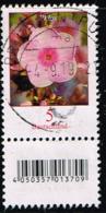 Bund 2017, Michel# 3296 R O Blumen: Phloxe Mit EAN-Code Und Nr. 495 - Rollenmarken