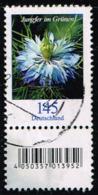 Bund 2018, Michel# 3351 R O Blumen: Jungfer Im Grünen Mit EAN-Code Und Nr. 355 - Roulettes
