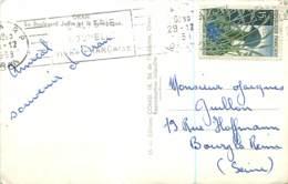"""Flamme """"l'Algerie Nouvelle Vivra Française"""" Sur Cp 1958 - ORAN - Lettres & Documents"""