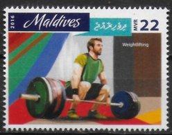 MALDIVES   N°   ( 2016 )  * *      Jo 2016  Halterophilie - Haltérophilie