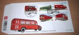 FDC België 2010  Postvoertuigen Van Vroeger En Nu 4056/60(o) Véhicules Postaux à Travers LeTemps - FDC