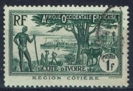 Ivory Coast, 1f., Coastal Region, 1936, VFU - Ivory Coast (1892-1944)
