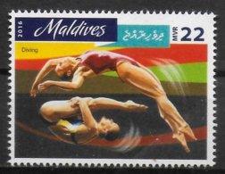 MALDIVES   N°   ( 2016 )  * *      Jo 2016  Natation Plongeon - Kunst- Und Turmspringen