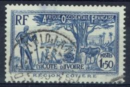 Ivory Coast, 1f.50, Coastal Region, 1936, VFU - Ivory Coast (1892-1944)