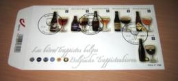 FDC België 2012 Belgische Trappistenbieren 4195/4200(o) Les Bières Trappistes Du Bloc 197° - FDC