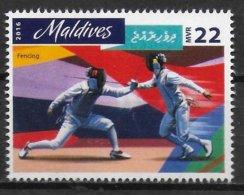 MALDIVES   N°   ( 2016 )  * *      Jo 2016  Escrime - Fechten