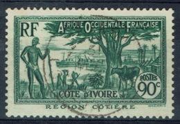 Ivory Coast, 90c., Coastal Region, 1939, VFU nice Postmark - Ivory Coast (1892-1944)