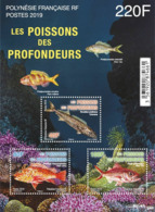 French Polynesia 2019 Block MNH Les Poissons Des Profondeurs Deep Sea Fish Fishes - Pesci