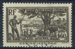 Ivory Coast, 1f.60, Coastal Region, 1939, VFU nice Postmark - Ivory Coast (1892-1944)