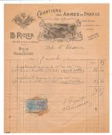 Facture Rizier Chantier Des Armes De France 42 44 Avenue De Breteuil Paris 75 - Autres