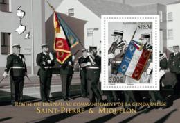 Saint-Pierre-et-Miquelon 2019 SS MNH Drapeau De La Gendarmerie Flag Of The Gendarmerie - Police - Gendarmerie