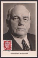MC DDR 324 Staatspräsident Wilhelm Pieck Fotokarte Berlin-Niederschönhausen Unbeschrieben, Maximumkarte Maxcard - [6] République Démocratique