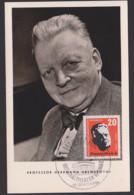 MC DDR 605 Professor Hermann Abendroth Musik Dirigent SoSt. Nationaltheater Weimar Unbeschrieben, Maximumkarte Maxcard - DDR