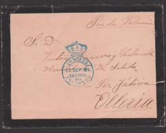 Correos Estafeta Del Congreso Trauer-Brief Cover 1894 Olleria - Covers & Documents