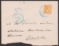 Correos Estafeta Del Congreso Trauer-Brief Cover 1895 Cordoba - 1889-1931 Reino: Alfonso XIII