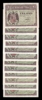 España Colección 1 Peseta Burgos Abril 1938 Pick 108 Todas Las Series SC UNC - [ 3] 1936-1975 : Régimen De Franco