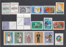 Finland 1972 - Year Set Complete, 700/715 Incl. 706x+y, MNH** - Finland