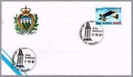 Espamer 87 - FARO TORRE DE HERCULES - Matasellos De San Marino En La Coruña 1987 - Faros