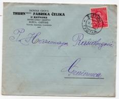 1939 YUGOSLAVIA, SLOVENIA, GUSTANJ TO GRACANICA, BOSNIA, THURN FAMILY STEEL FACTORY, RAVNE, COMPANY'S HEAD COVER - 1931-1941 Royaume De Yougoslavie