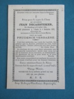 DP Jean Decaesteker ( Verbaere ) Boeschepe Abeele ( Poperinge ) - Images Religieuses