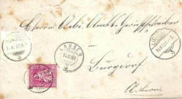 Brief  Lausen - Burgdorf           1881 - 1862-1881 Sitted Helvetia (perforates)