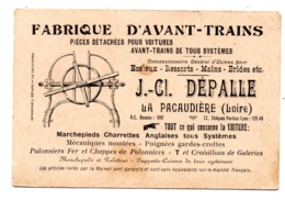 Fabrique D'Avant-Trains CLAUDE DEPALLE - La Pacaudière (Loire) - Cartes De Visite