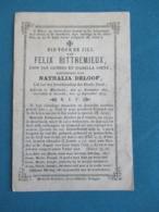 DP Felix Bittremiaux ( Coene Deloof ) Moerkerke Sijsele 1875 - Images Religieuses