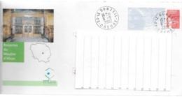Enveloppe PAP Illustrée MOUTIER D'AHUN CREUSE 23 Oblitérée 2002 - Prêts-à-poster: Other (1995-...)