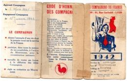 Carte Membre COMPAGNONS DE FRANCE 1942 - Documents