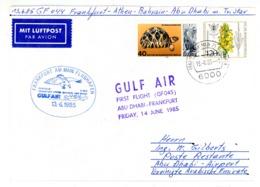 """""""GULF AIR"""" Erstflug Abu - Dhabi - Frankfurt 1985 - Abu Dhabi"""