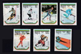 Kampuchea 1989 Yvert 856A/856G ** Jeux Olympiques D'hiver Alberville 1992 Winter Olympic Games, MNH - Kampuchea