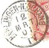 AMBULANT Treinstempel Harlingen-N.Schans IV  Kleinrond 1901 Op Ansicht Leeuwarden Kanselarij - Postal History