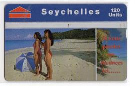SEYCHELLES Ref MV Cards : SEY-41 REV A  120 U CN 708A BEACH SCENE Année 1997 - Seychelles