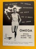 9134 - Omega Publicité  20 Ans De Chronométrage Jeux Olympiques Helsinki 1952 - Publicidad