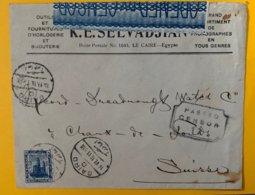 9136 - Enveloppe K.E.Selvadjian Le Caire 14.06.1906 Pour La Chaux-de-Fonds Cacahet Censure - Horlogerie