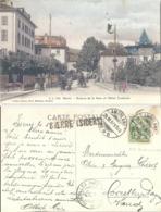 "AK  ""Sierre - Avenue De La Gare""  (Stabstempel)          1907 - 1882-1906 Wapenschilden, Staande Helvetia & UPU"
