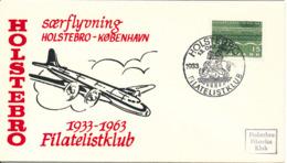 Denmark Special Flight Cover Holstebro - Copenhagen 13-10-1963 - Danimarca
