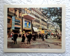 Paris, Les Champs Elysées, La Ville Qui Attire - Extrait D'un Dossier De Documentation Pédagogique  1957 - 27 X 21 Cm - Andere