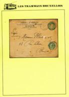 30/396 -- LES TRAMWAYS BRUXELLOIS - Entier Repiqué TP Télégraphiqu En EXPRES BXL Rue Royale 1902 - Transportée Par TRAM - Telegraph