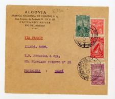 BRESIL: N° Yt 174+PA17+PA18+PA20 SUR DEVANT DE LETTRE Obli. RIO DE JANEIRO 1931 POUR CEARA VIA PANAIR - Brasile