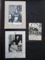 LOT 3 PHOTOS AUTOGRAPHE (V1927) SIMEON II Roi De Bulgarie Et MARGARITA (6 Vues) KARDAM KIRIL KUBRAT KONSTANTIN - Autographes