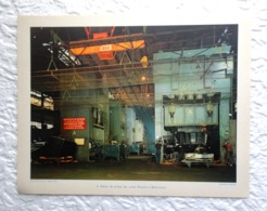 Atelier De Presse  Usines Renault à Billancourt- Extrait D'un Dossier De Documentation Pédagogique  1955 - 27 X 21 Cm - Andere