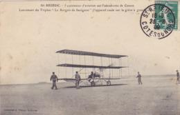 CPA 22 @ SAINT BRIEUC En 1909 - Aviation Aérodrome De Cesson - Lancement Du Triplan Le Borgnis De Savignon Sur La Grève. - Saint-Brieuc