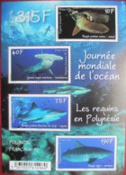 French  Polynesia  2014    Sharks   S/S  MNH - Marine Life