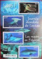 French  Polynesia  2014    Sharks   S/S  MNH - Meereswelt